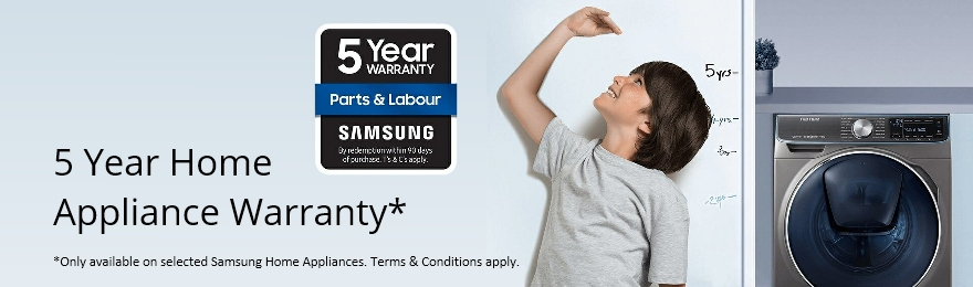 Samsung Home Appliance 5 Year Warranty