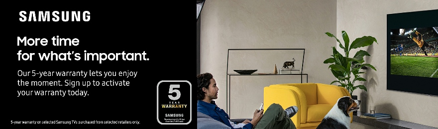Samsung TV 5 Year Warranty