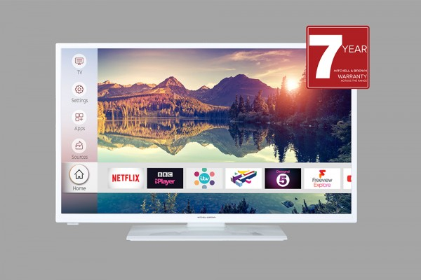 "Mitchell & Brown JB-241811FSMWT 24"" Smart LED TV"