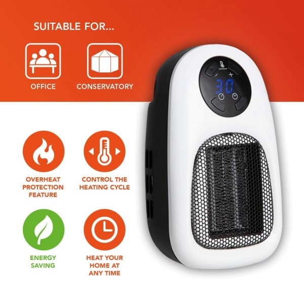 Warmlite WL44014 Plug-In 500W PTC Heater