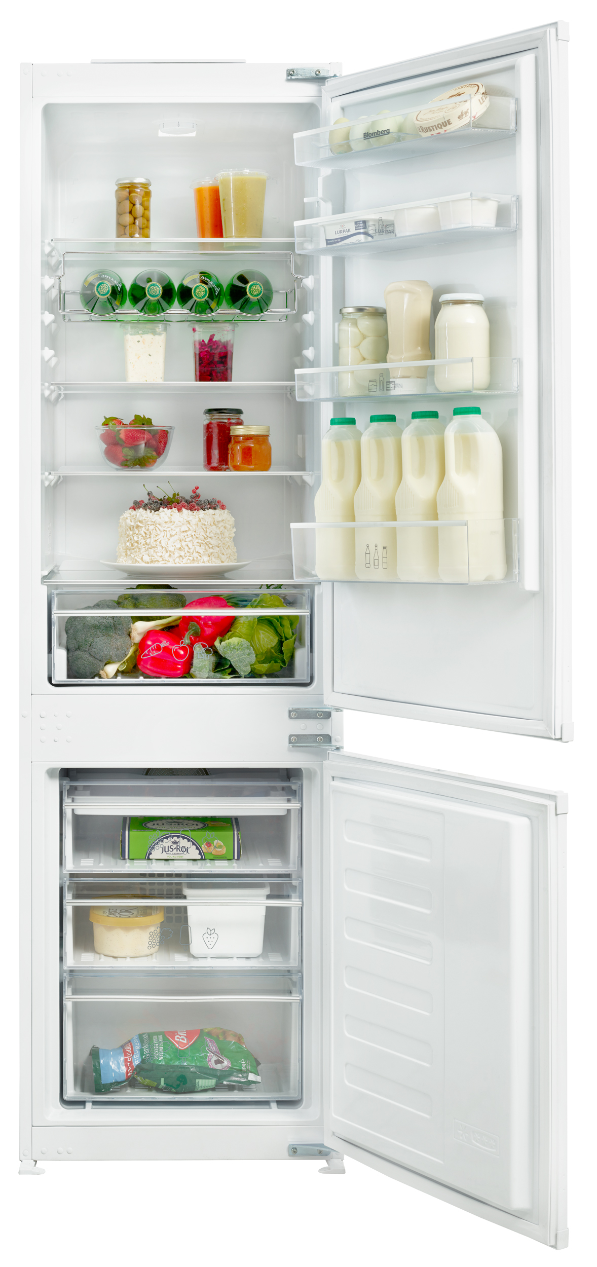 Blomberg KNM4551I Built-In Frost Free Fridge Freezer with 70/30 ...