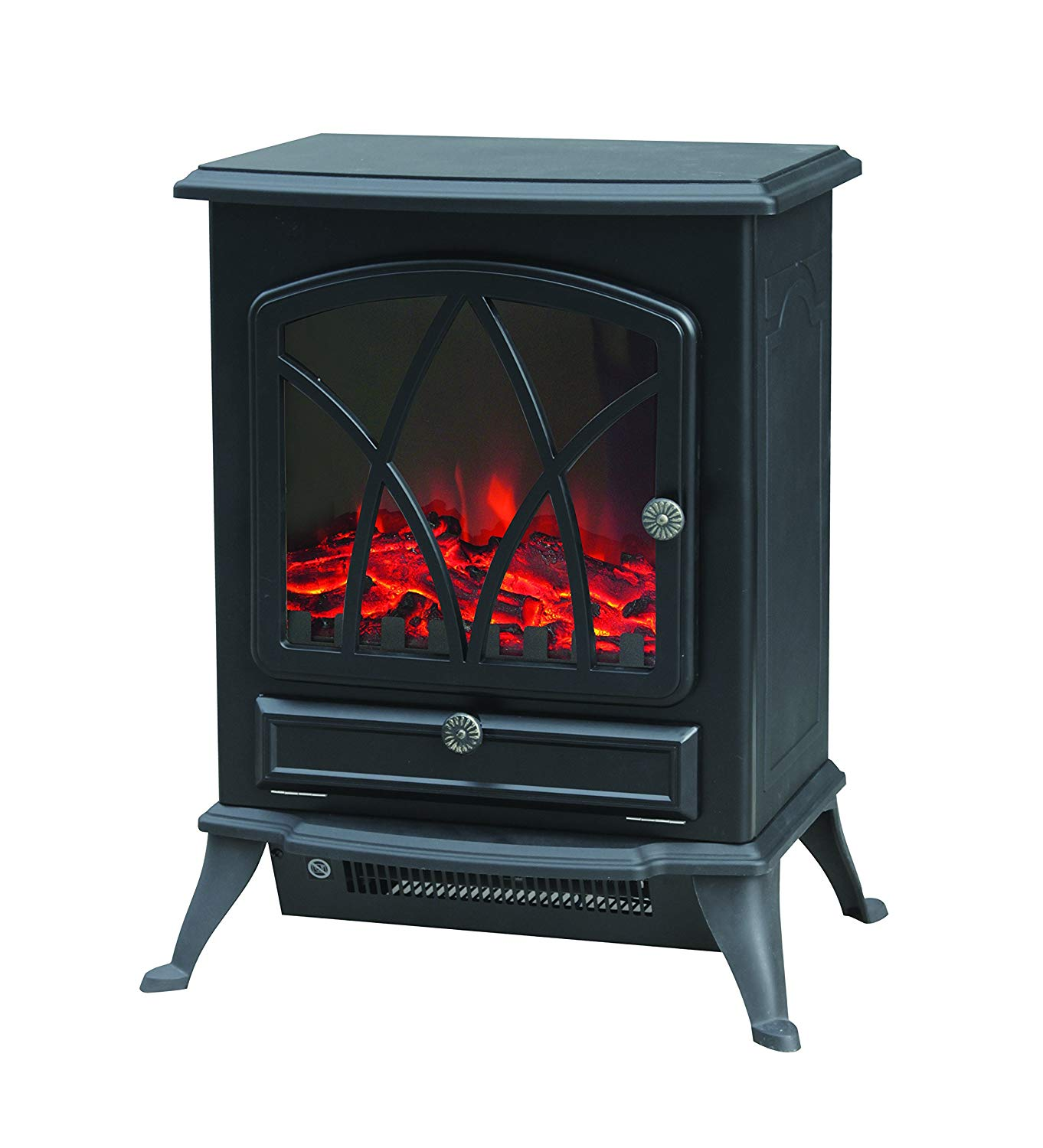 warmlite wl46018 2kw led flame effect stove fire in black g craggs ltd rh gcraggs co uk