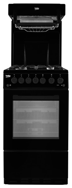 Beko KA52NEK 50cm Wide Gas Cooker with Eye Level Gril
