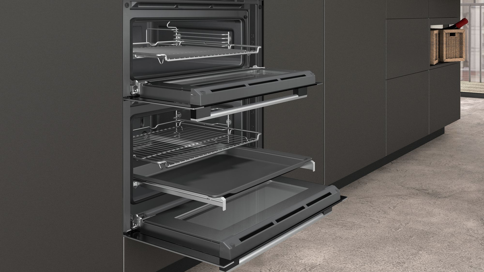 Neff J1ace4hn0b Built Under Double Oven With Catalytic