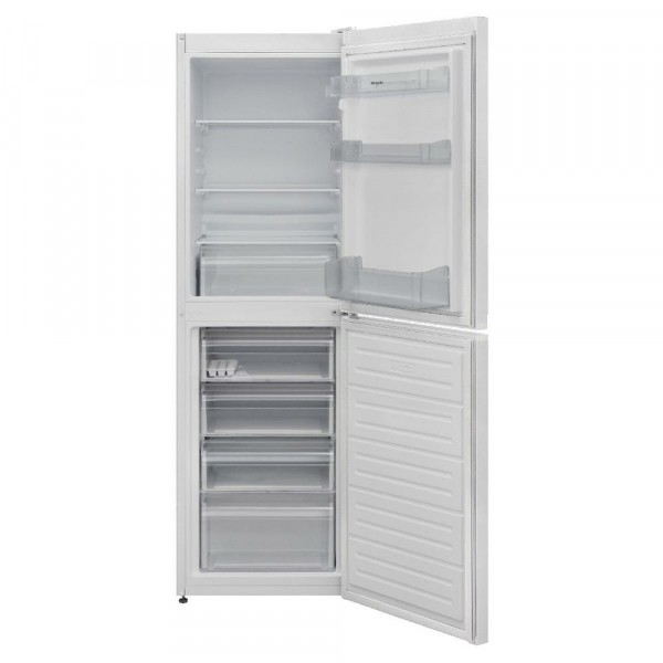 166cm Tall 54cm Wide Static Fridge Freezer In White