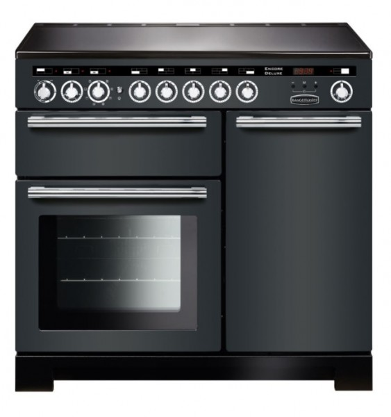 Encore Delux 100cm Induction Range Cooker in Slate Grey and Chrome