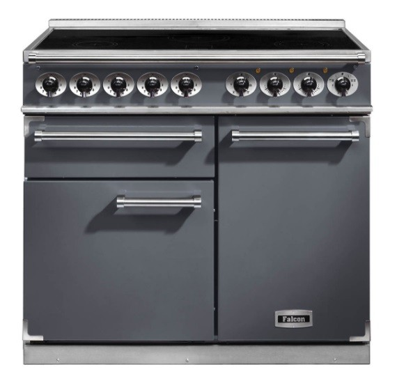 1000 Deluxe Induction Range Cooker in Slate and Nickle
