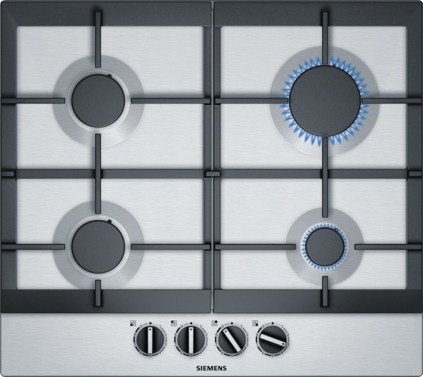 60cm 4 Burner Gas Hob In Stainless Steel