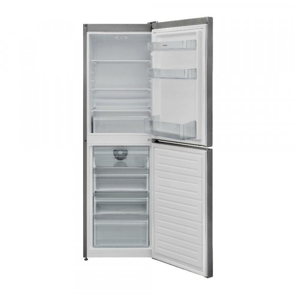 166cm Tall 54cm Wide Frost Free Fridge Freezer In Silver