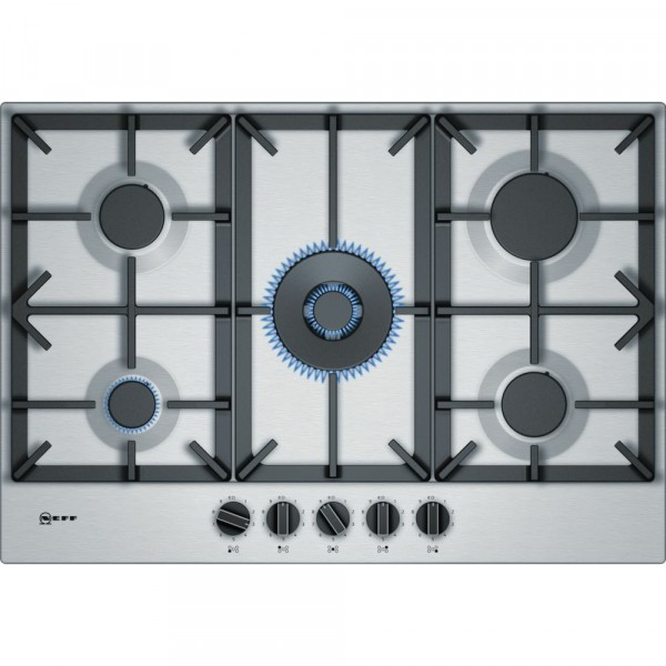 75cm 5 Burner Gas Hob In Stainless Steel