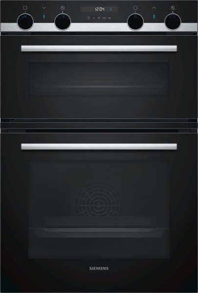 In Column Multifunction Double Oven In Black