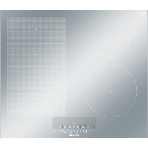 60cm 4 Zone Single Flex Induction Hob In Silver