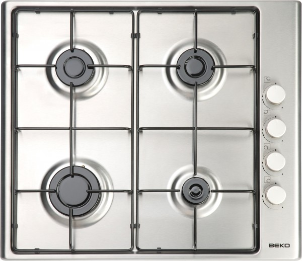 4 Burner Gas Hob Side Control Stainless Steel