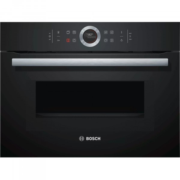 Compact Oven with Microwave in Black