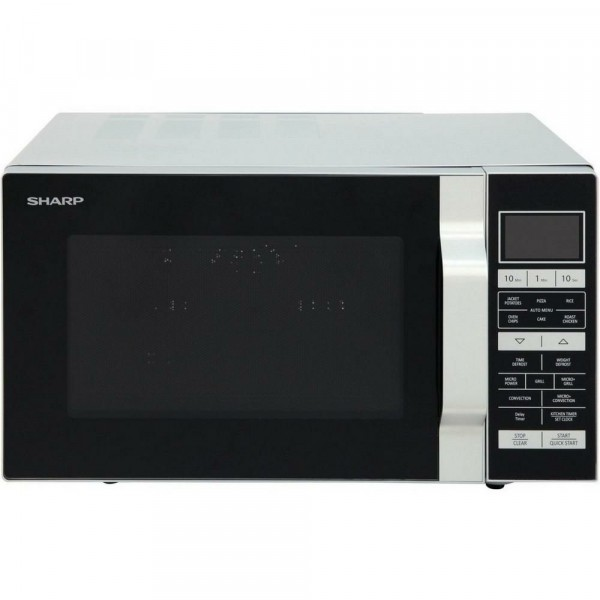 25ltr 900w Flatbed Full Combination Microwave In Silver