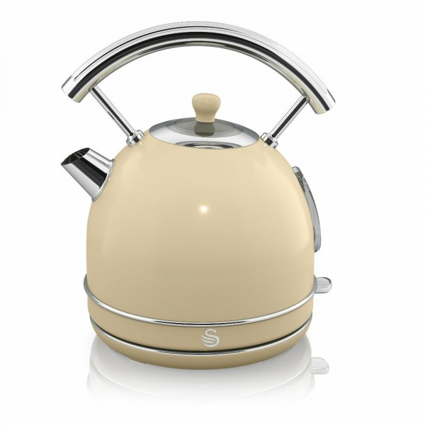 1.8ltr Retro Dome Kettle In Cream