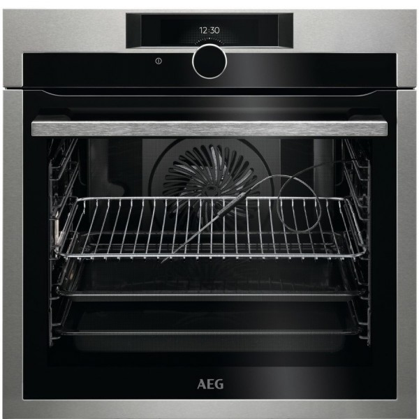 Single Built-in Oven with Pyrolytic Cleaning and SenseCook - Stainless Steel