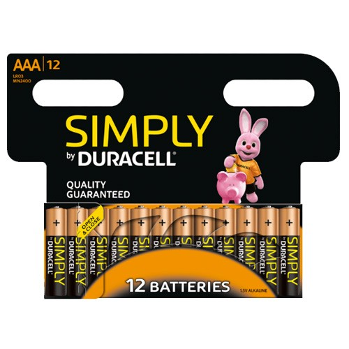 Simply batteries AAA 12 pack