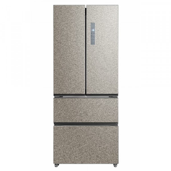 71cm Wide French Door Frost Free Fridge Freezer In Steel