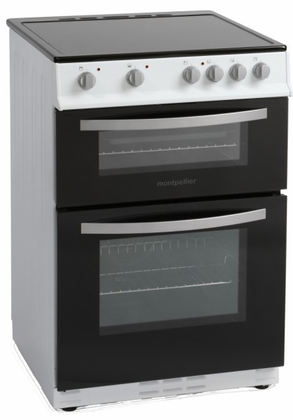 60cm Cooker With Double Oven And Ceramic Hob