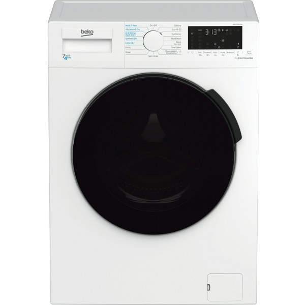 7kg Wash 4kg Dry 1200rpm Spin Washer Dryer In White