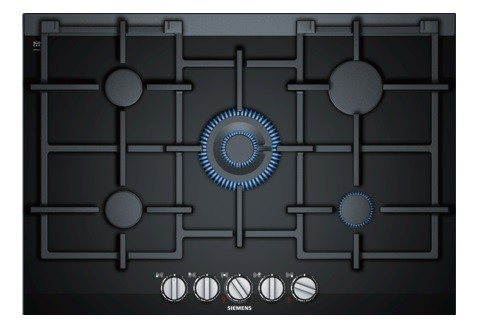 75cm Gas on Ceramic Gas Hob - Black