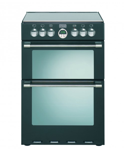 60cm Electric Cooker With Double Oven And Ceramic Hob