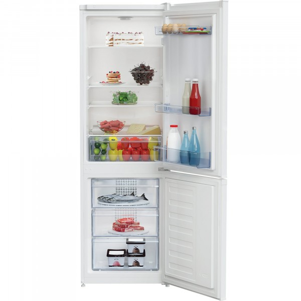 54cm Wide Frost Free Fridge Freezer In White