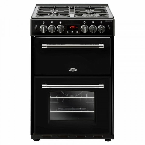 60cm Farmhouse Gas Cooker In Black