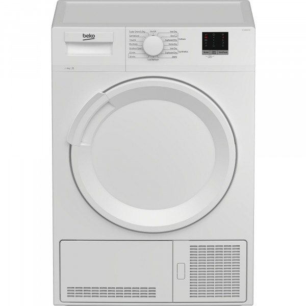 8kg Condenser Sensor Tumble Dryer In White