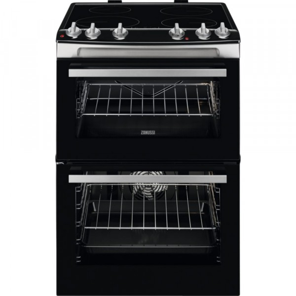 60cm Electric Cooker With Induction Hob In Stainless Steel