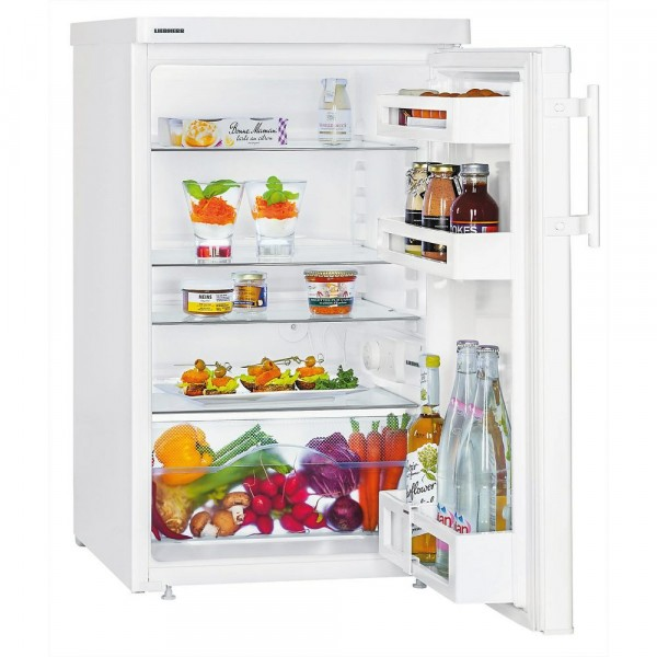 50cm Wide 136ltr Undercounter Larder Fridge In White