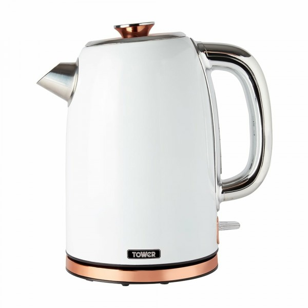 1.7ltr White and Rose Gold 3kW Kettle
