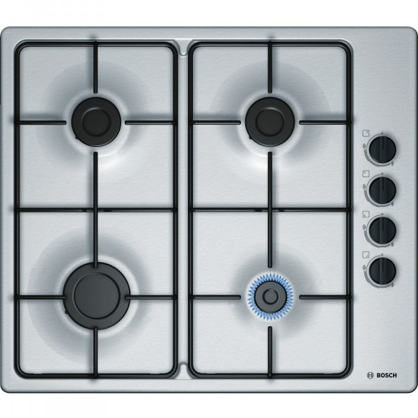 4 Burner Gas Hob With Side Controls In Stainless Steel