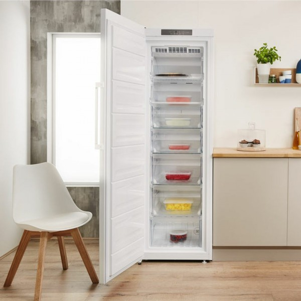 187cm Tall 260ltr Frost Free Freezer In White