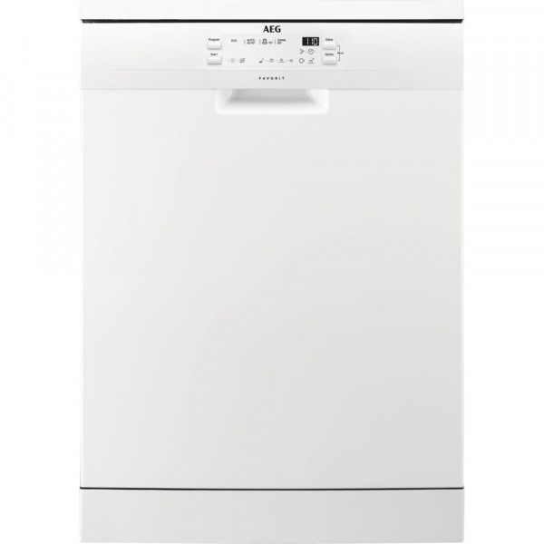 13 Place 4 Programme Full Size Dishwasher In White