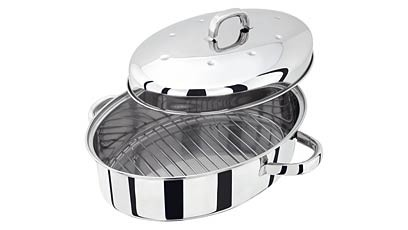 32cm Oval Roasting Tin With Rack And Lid