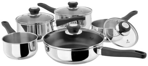 5 Piece Saucepan Set In Stainless Steel
