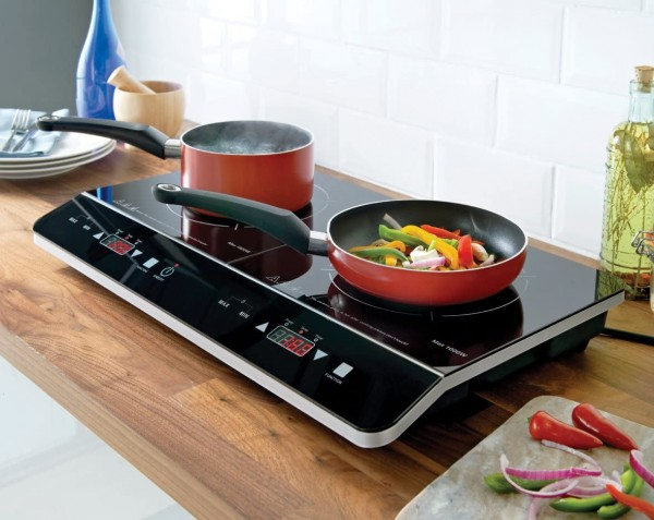 2 Zone Table Top Induction Hob In Black