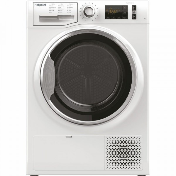 8kg A++ Rated Heat Pump Tumble Dryer In White