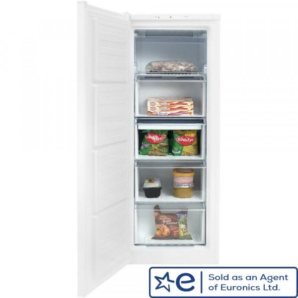 55cm Wide 145cm Tall Freestanding Frost Free Freezer In White