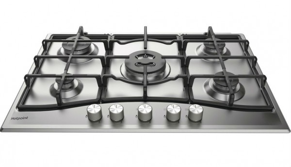 5 Burner 75cm Gas Hob in Stainless
