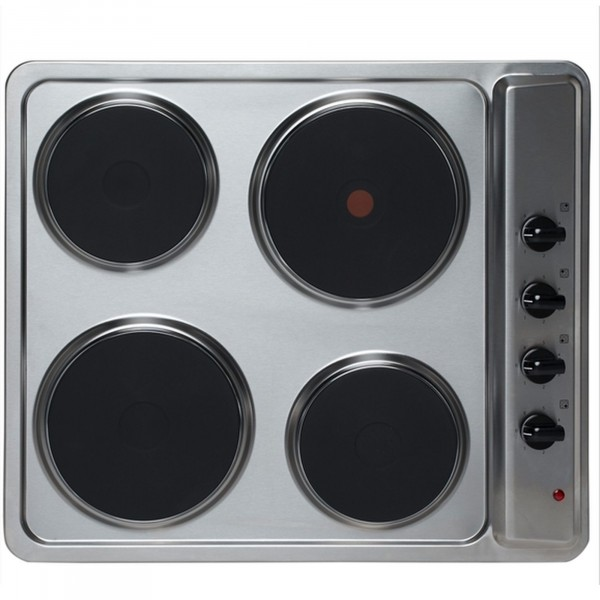 4 Zone Solid Plate Hob In Stainless Steel