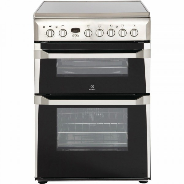 60cm Ceramic Cooker With Double Oven In Stainless