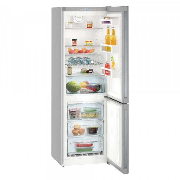 60cm Wide 186cm Tall No Frost Fridge Freezer In Stainless