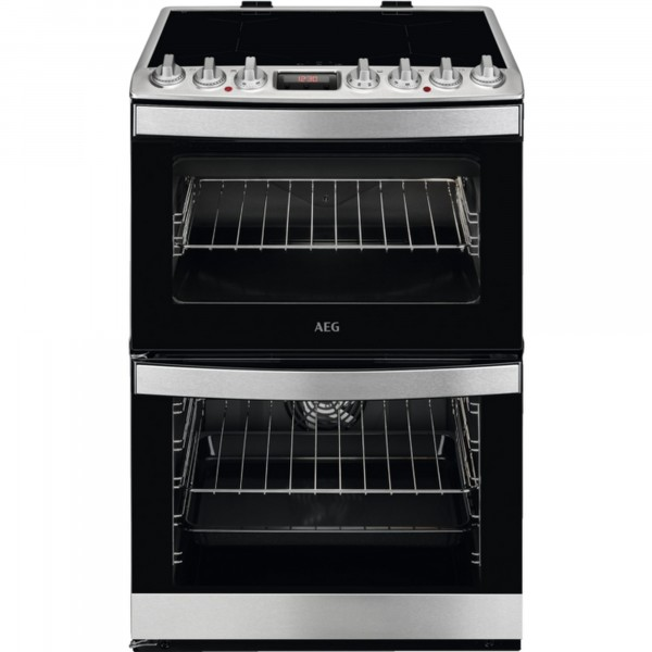 60cm Electic Cooker With Double Oven And Induction Hob In Stainless