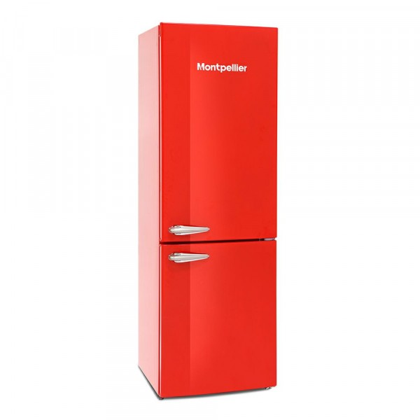 60cm Wide Frost Free Retro Style Fridge Freezer In Red