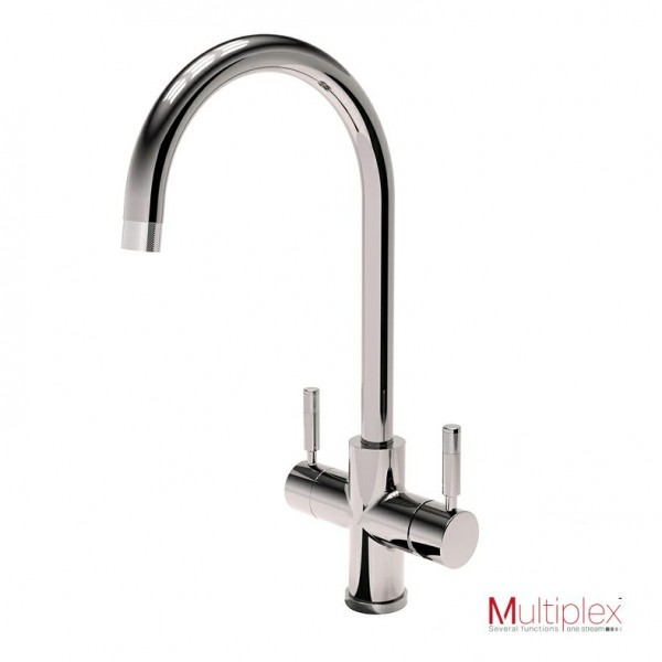 Multiplex 3 in 1 Hot And Cold Tap With A Swan Spout