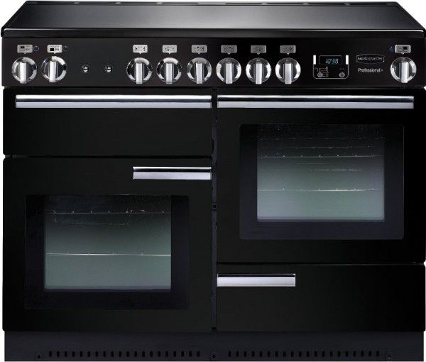Rangemaster PROP110EIGB/C Professional Plus Gloss Black 110cm Electric Induction Range Cooker