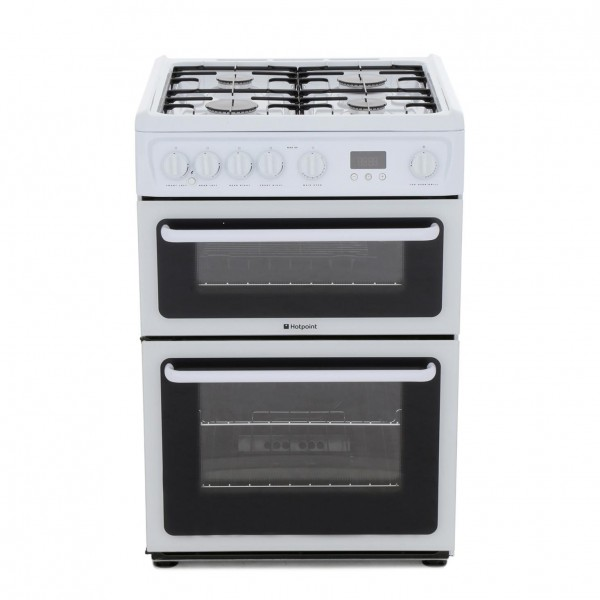 Hotpoint HAG60P Gas Cooker with Double Oven